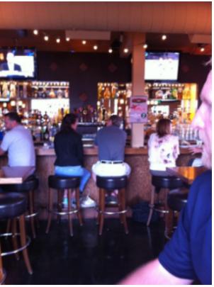 Guests enjoying drinks and a Baja style menu at Billy's Inn (Photo by Samantha J.)