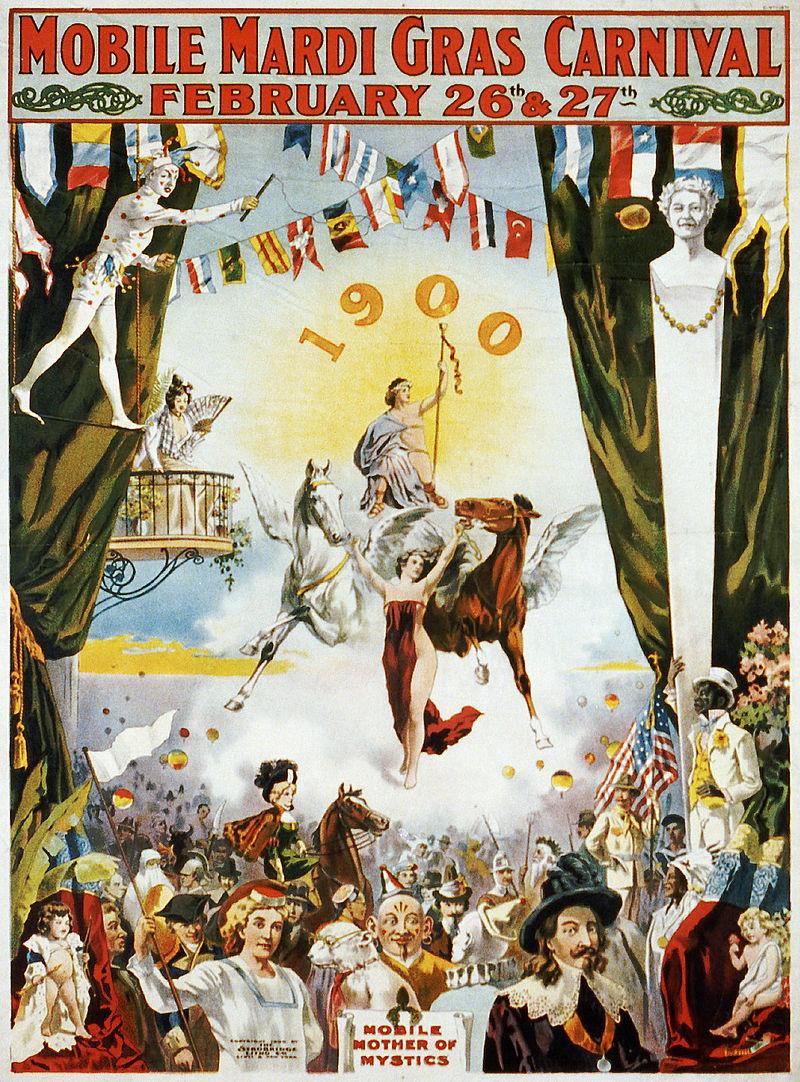 800px-Mobile_Mardi_Gras_Carnival,_1900-Mardi-Gras-Bar-Crawl-Paczki-masks.jpg
